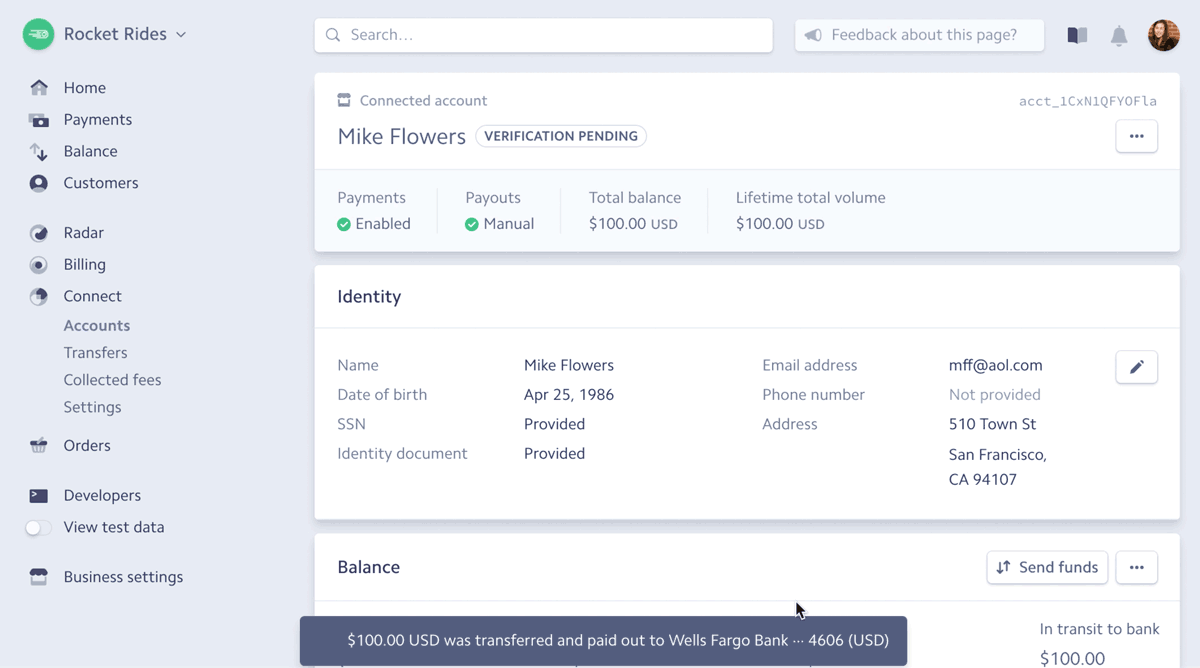 Fast, automated payouts for marketplaces and platforms with Connect