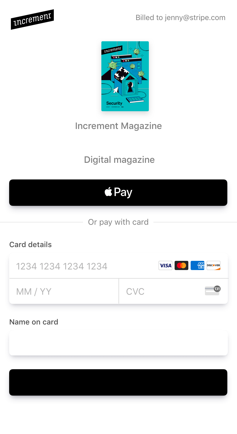 Stripe Checkout on mobile