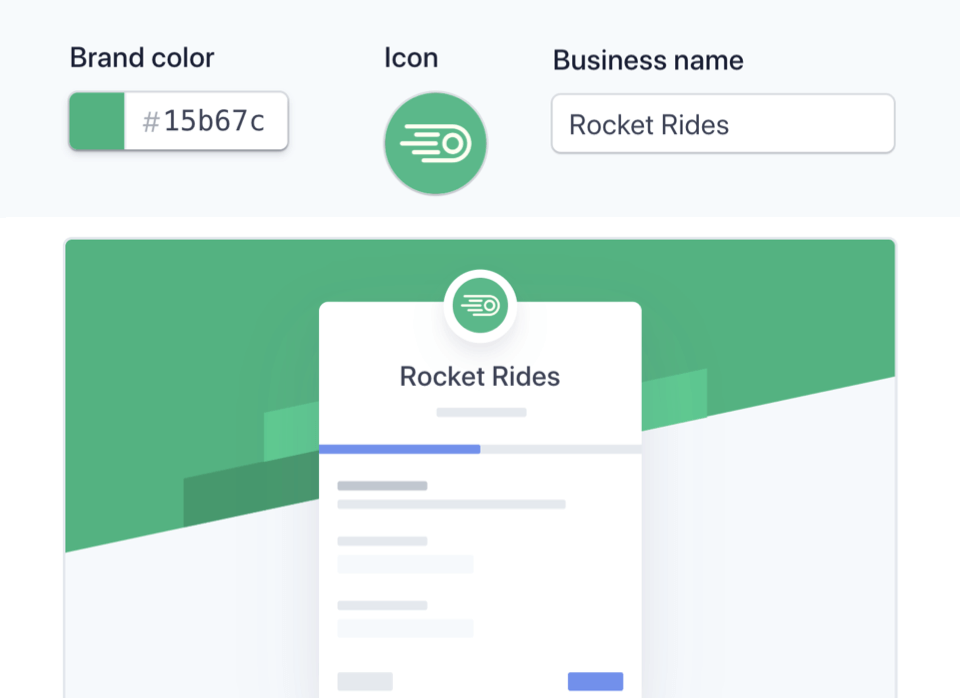 CYou can easily customize the Connect onboarding flow in your Stripe Dashboard—no need to create your own.